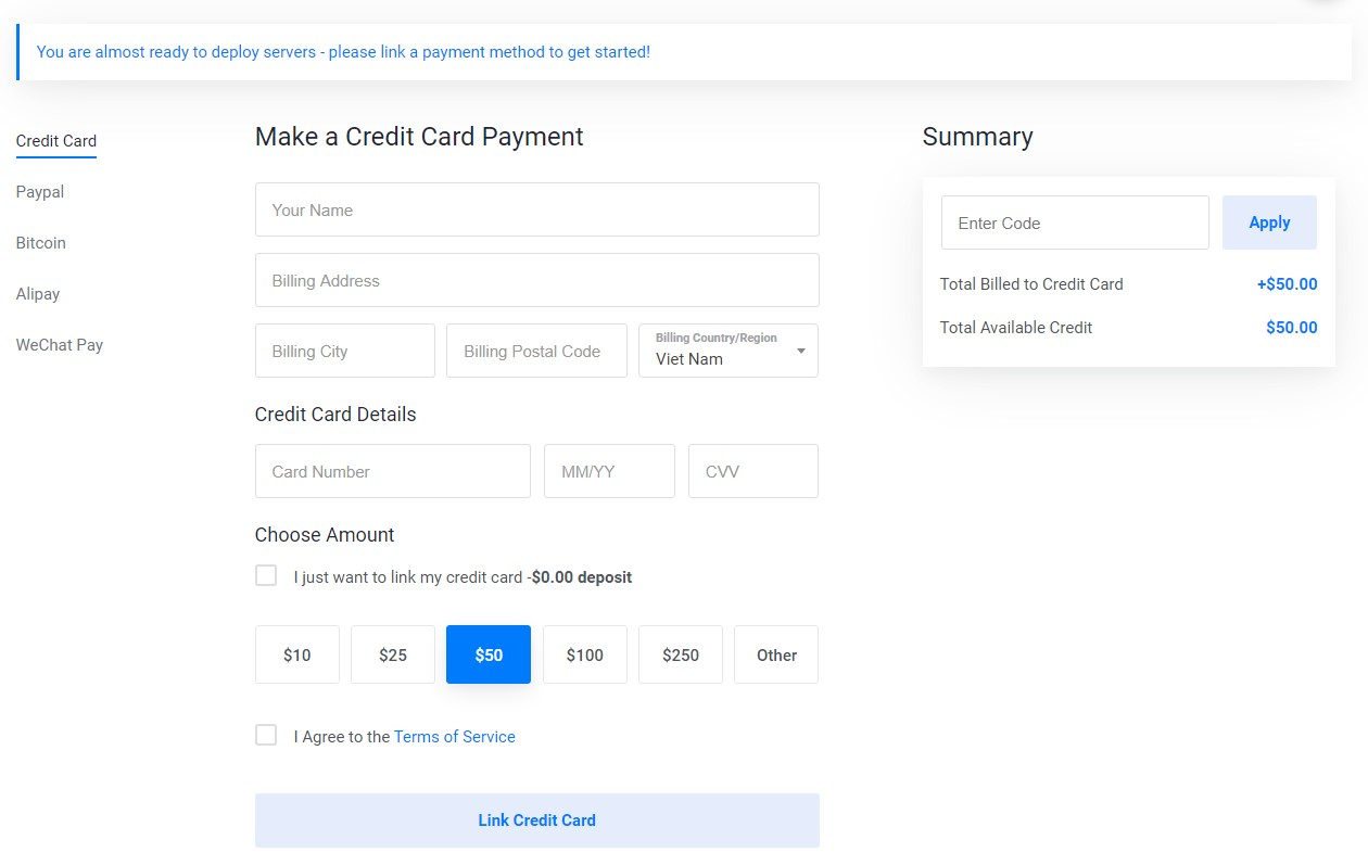 Vultr double credit