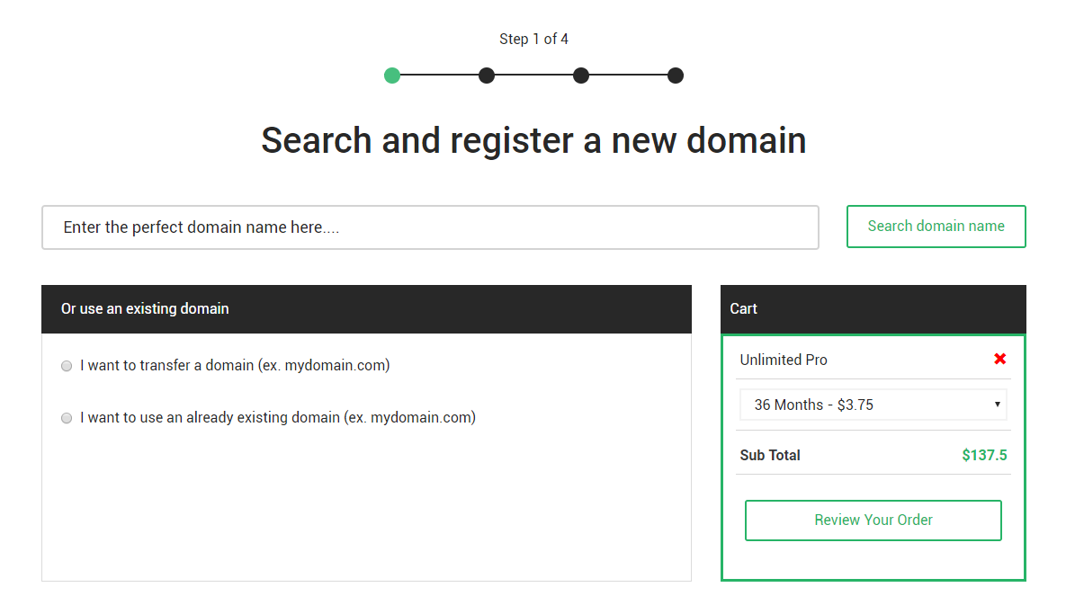 stablehost register hosting step1