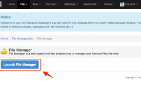 File Manager Sentora