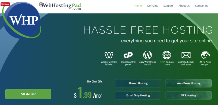Webhosting Pad