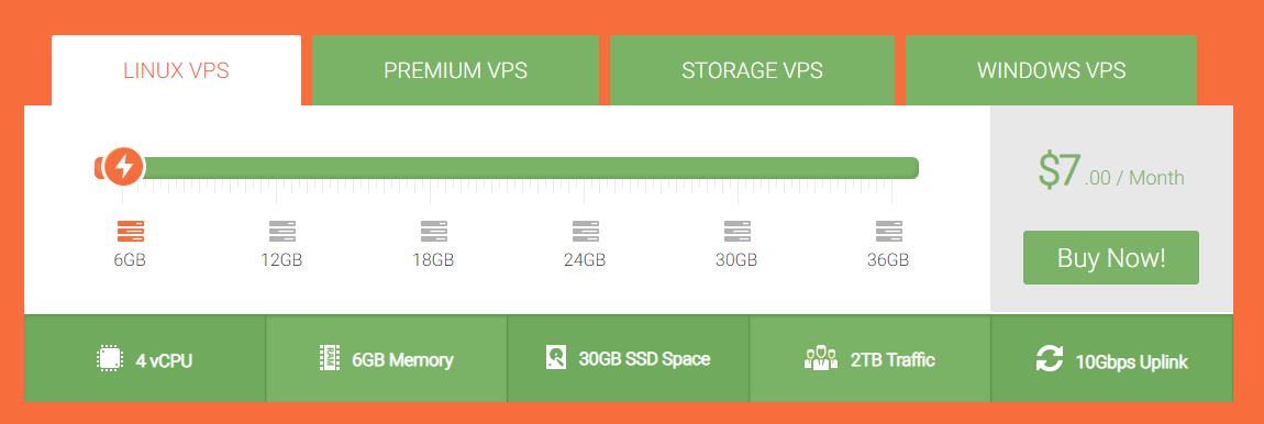 vpsdime package