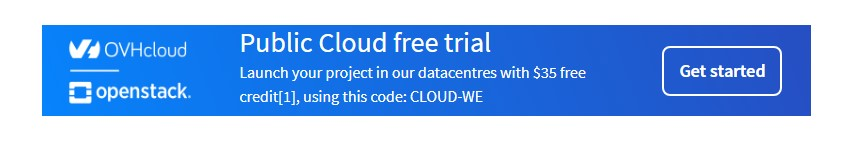 ovh public cloud trial 35 usd credit