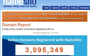 NameSilo 3 million domain