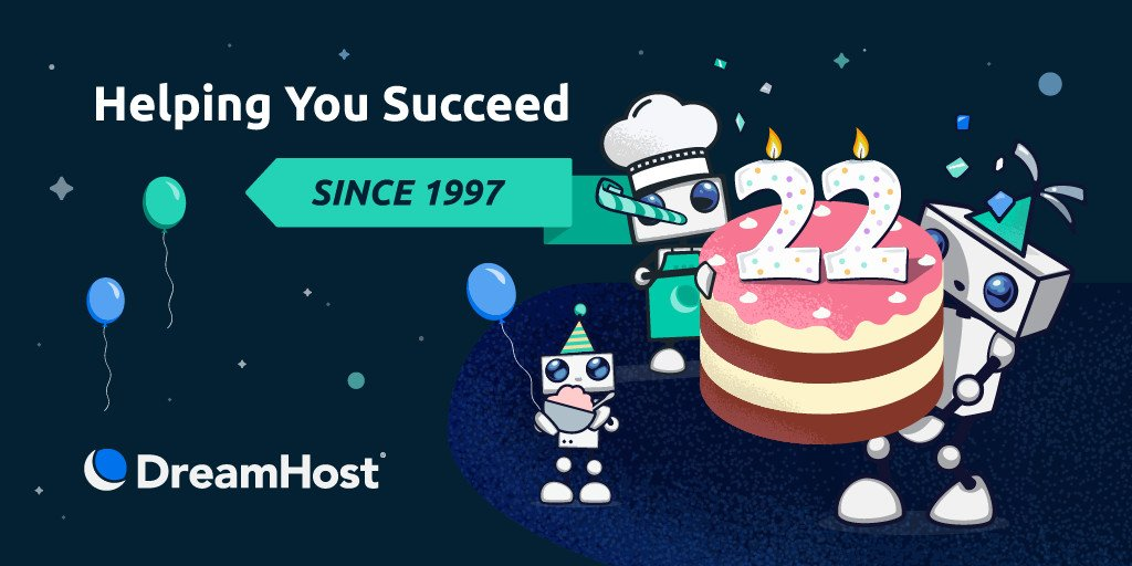 DreamHost 22nd birthday discount
