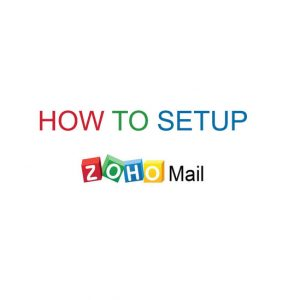 how to setup email domain with zoho
