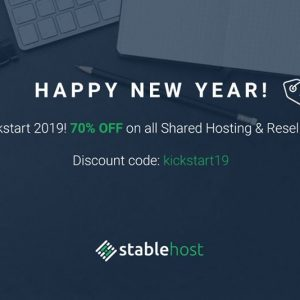 StableHost new year coupon