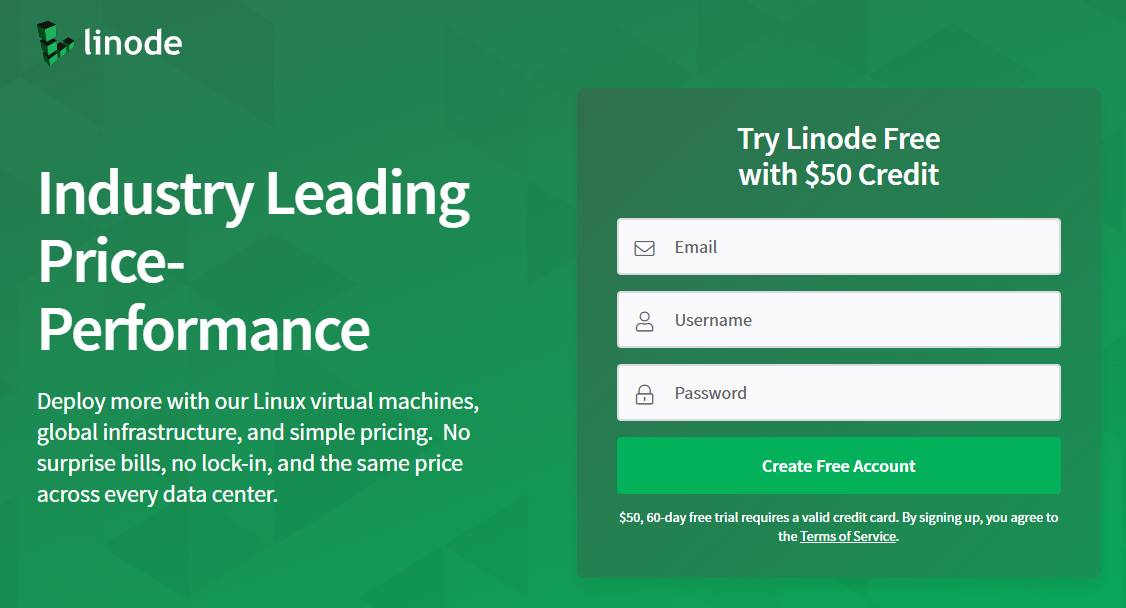 Linode free $50 credit