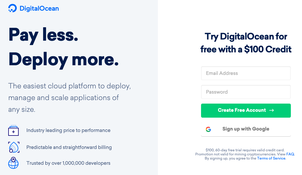 Digital Ocean $100 coupon