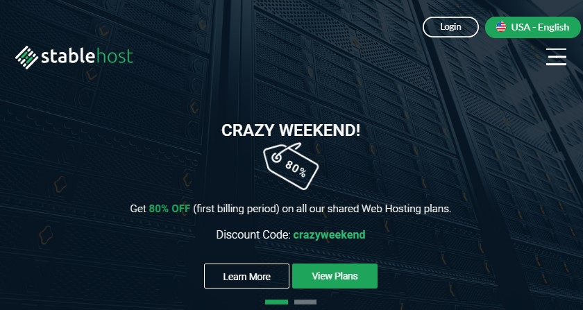 StableHost Crazy Weekend Deal
