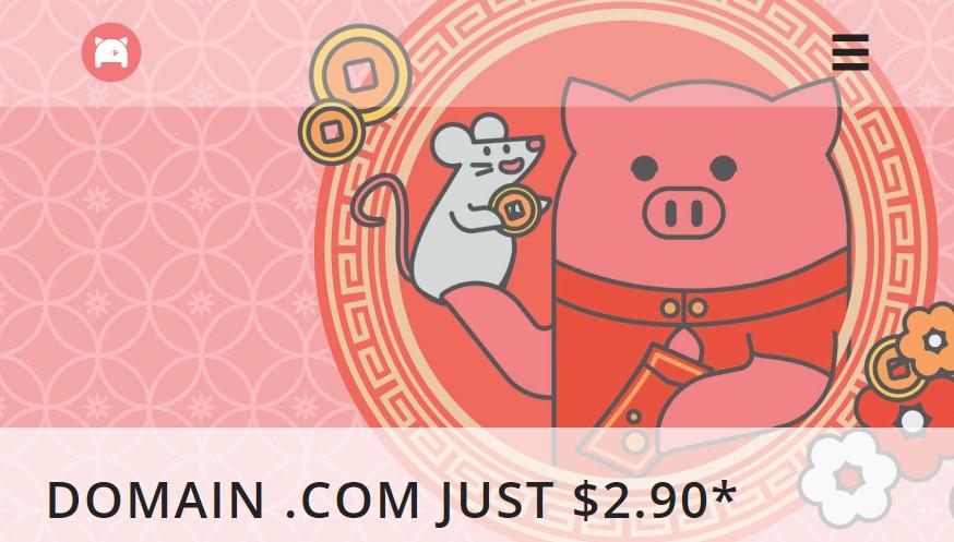 porkbun domain just only $2.9