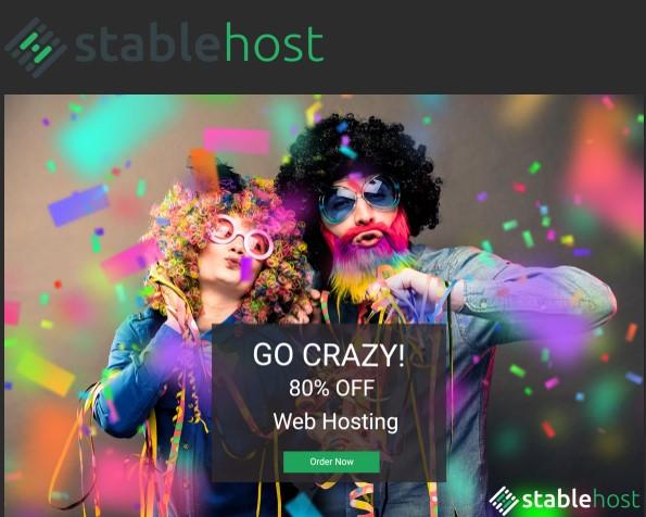 StableHost Crazy Weekend Deal