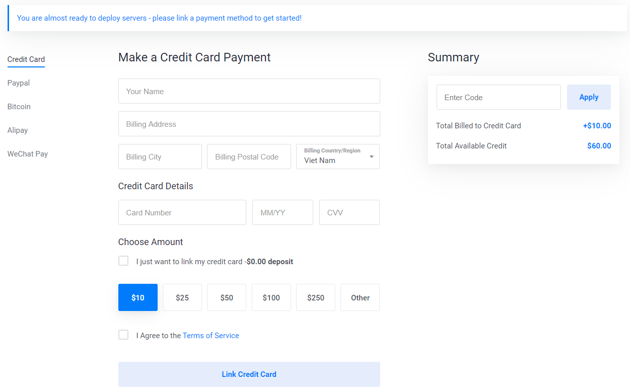vultr free 50 usd credit coupon
