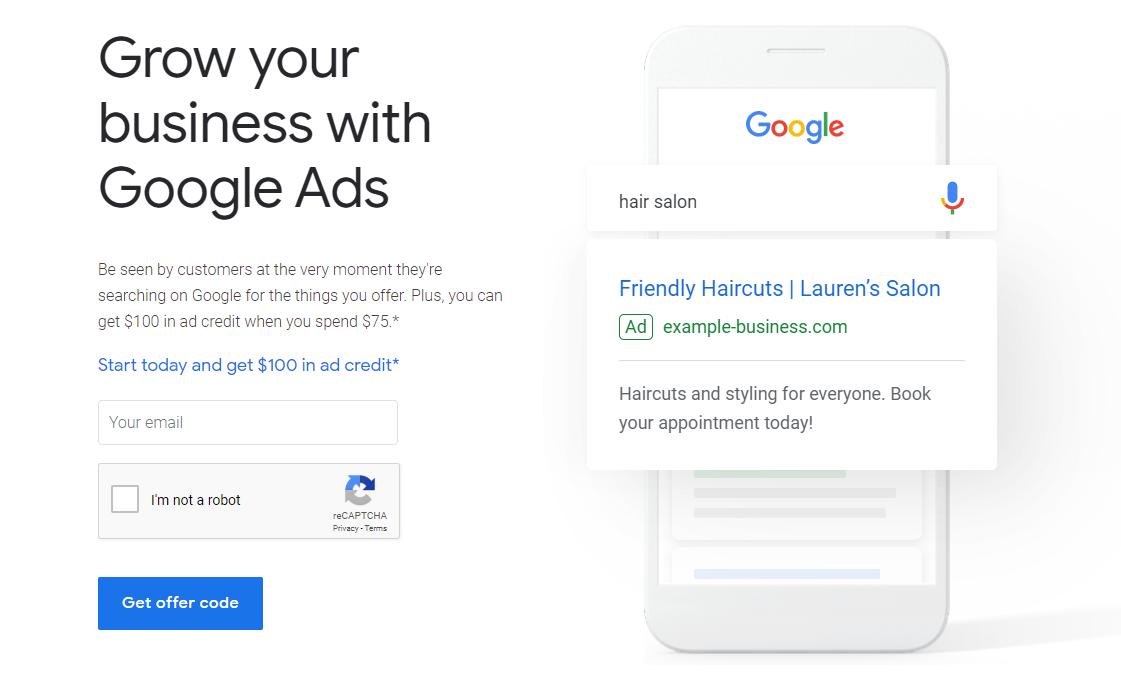 Google Ads Australia $100