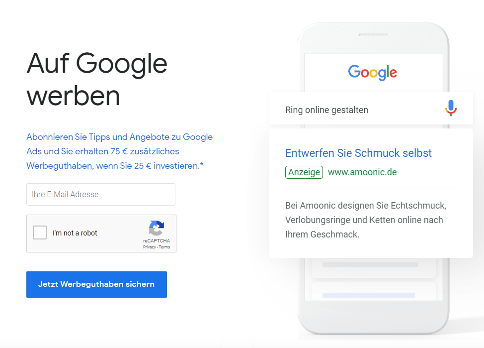 Google Ads Germany account