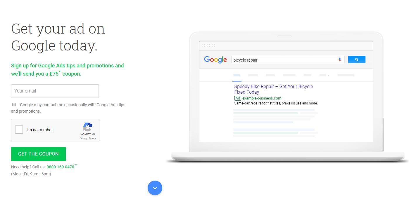 Google Ads UK coupon