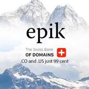 epik domain 99 cent