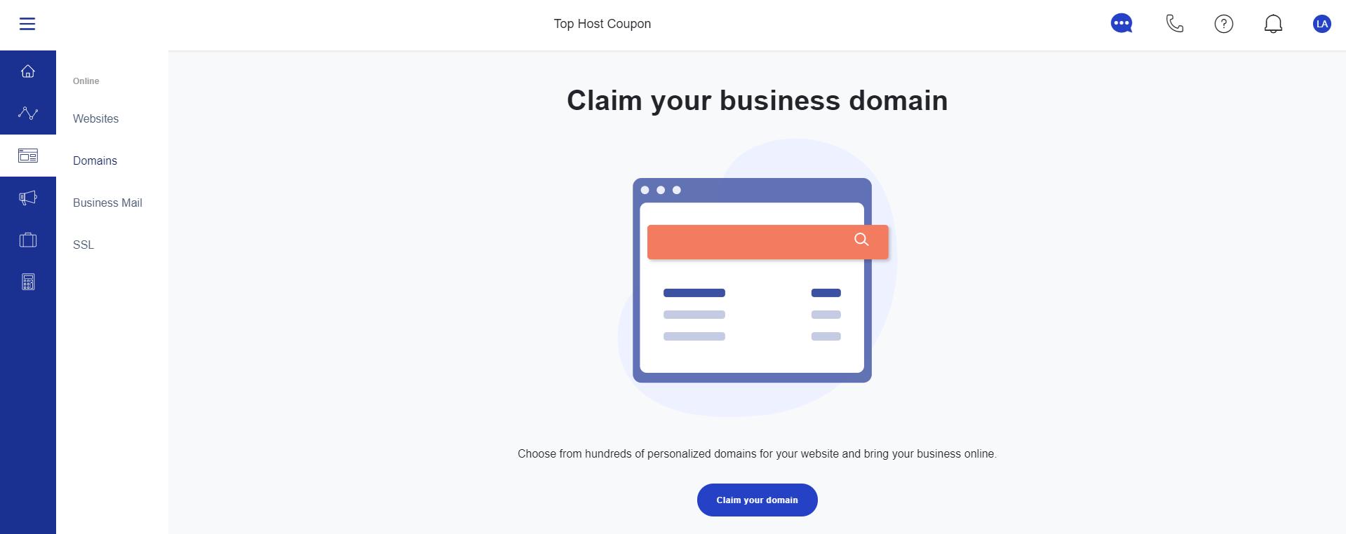 claim free domain