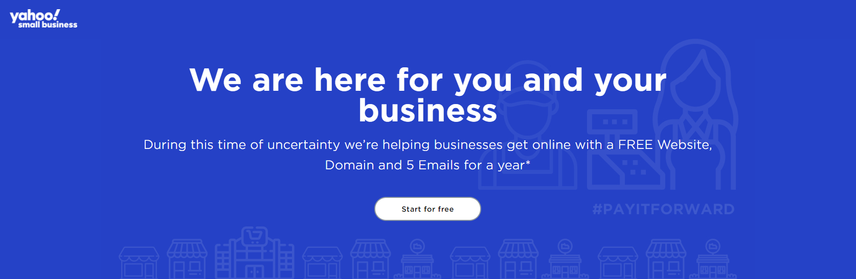 Free domain on Yahoo
