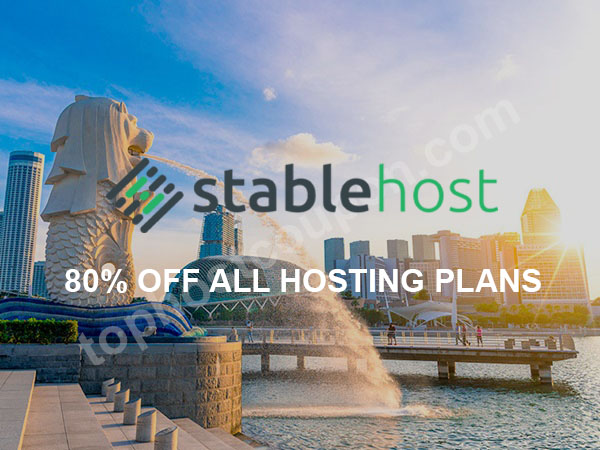80% off stablehost singapore coupon