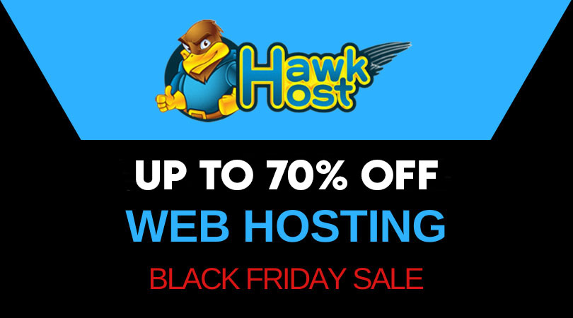 HawkHost Black Friday 70% off coupon