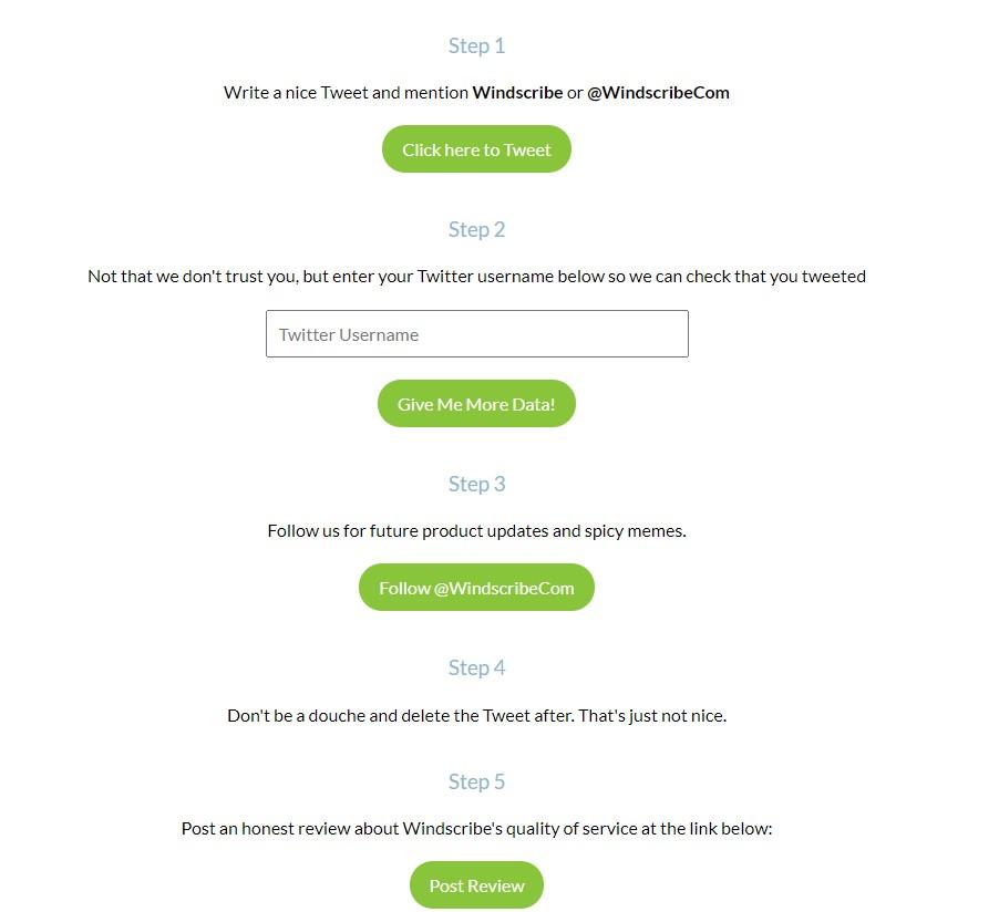 tweet to get free data