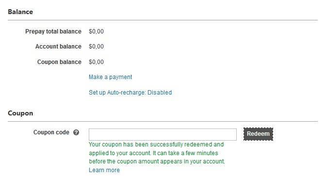 Add Bing Ads coupon successfully