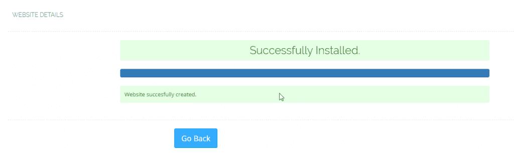 Add Website CyberPanel Successfully