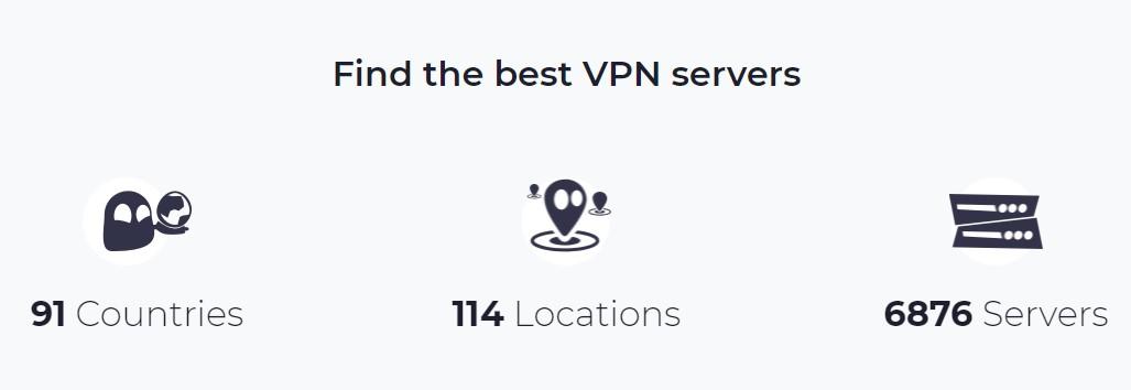 CyberGhostVPN location servers