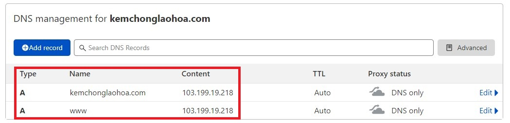 DNS to install Let's Encrypt on FastPanel