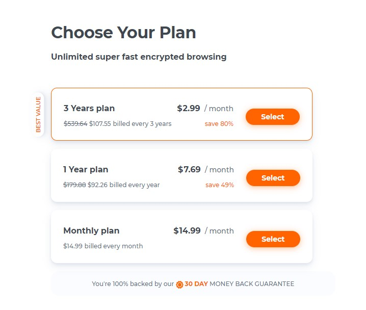 Choose Hola VPN Plans