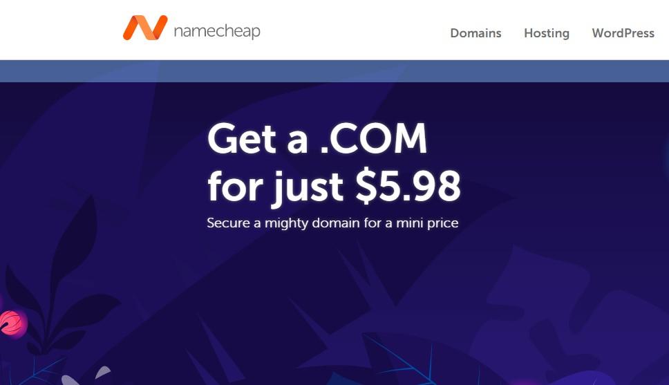 NameCheap .COM domain coupon
