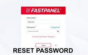 Reset Passowrd FastPanel