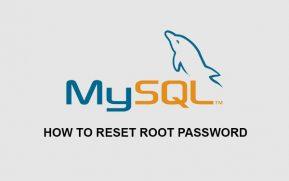 Reset root password mysql